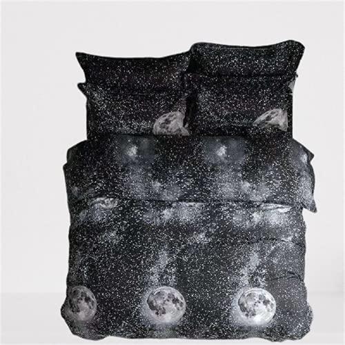 CCBAO Bettwäsche Heimtextilien Bettbezug Kissenbezug Bequem Weich Atmungsaktiv Und Pflegeleicht 3-Teiliges Set 175x220cm