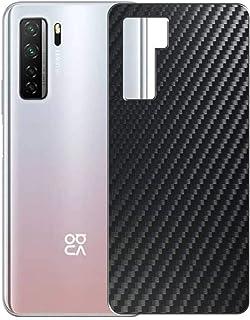 二枚 Sukix 背面保護フィルム 、 HUAWEI nova 7 SE 5G 向けの ブラック カーボン調 TPU 保護フィルム 背面 フィルム スキンシール 背面保護 背面フィルム(非 ガラスフィルム 強化ガラス ガラス )