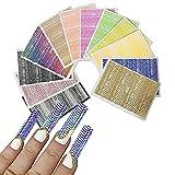 Pegatinas de uñas de piel de serpiente, Calcomanía de uñas de piel de serpiente, Nido de abeja Nail Art Sticker Calcomanías Pegatinas de piel de serpiente (1 Set)