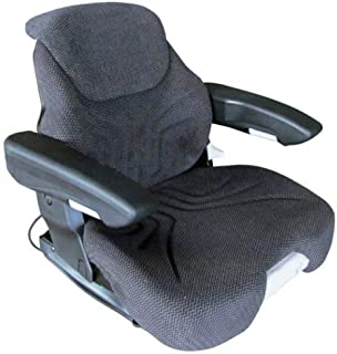 Seat Assembly Grammer Air Suspension Fabric Black & Gray Massey Ferguson Case New Holland Ford White Allis Chalmers Gleaner Case IH Steiger Hagie McCormick Caterpillar Challenger / Caterpillar Deutz