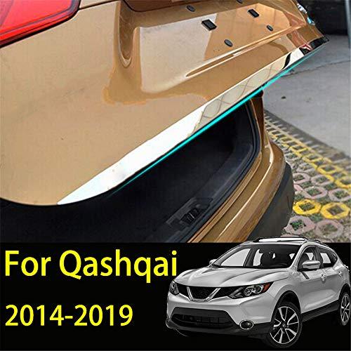 Tapa de la tapa del portón trasero para Qashqai J11 2016-2019 Tronco trasero de acero inoxidable Tira de la puerta trasera Etiqueta adhesiva Moldura Decoración Accesorios del coche Estilo