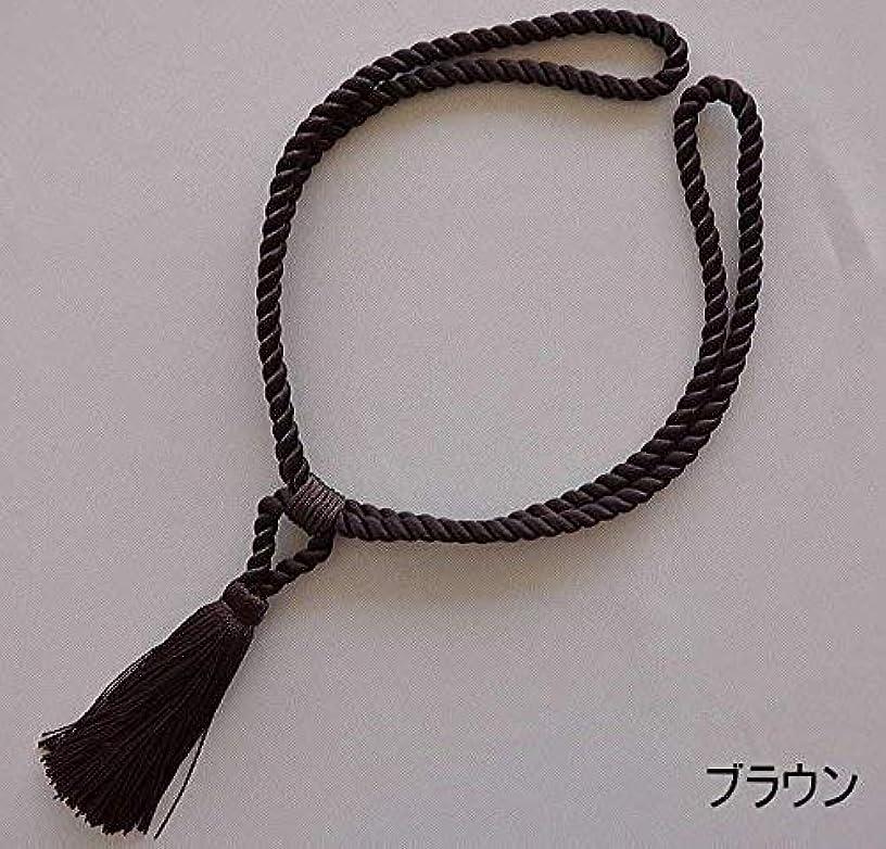 唯一痛み文明化【ネコポス】レーヨン房付きカーテンロープタッセル?ブラウン(2本入り)日本製