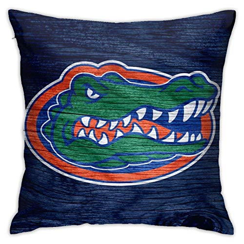 linqi Florida Gators Pillow Cover, Decorative Square Pillow Cover Sofa Bedroom Cushion Cover, for Home Decoration 18 X 18 Inch