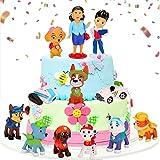 Cake Topper Set, 12 Pezzi Figures Cake Topper, Mini Figure Decorazione Torta, Compleanno Decorazioni Torta, Cartoni Animati Cake Topper, Per Festa Di Compleanno e Baby Shower (B)