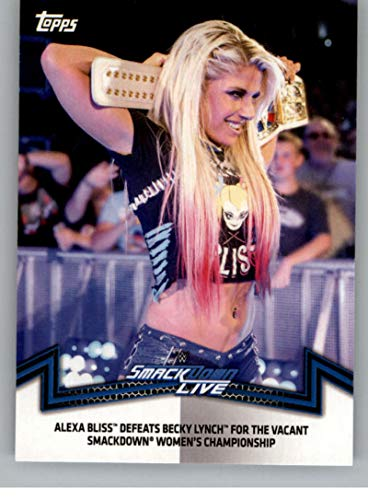 2018 Topps WWE Women's Division Memorable Matches and Moments #SDL-4 Alexa Bliss Defeats Becky Lynch Wrestling Trading Card