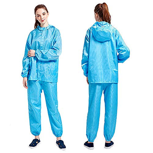 WFLJ werkkleding, wasbaar, stofdicht, uniseks, overall met capuchon, voor industrieel schilderwerk
