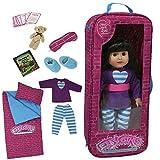 The New York Doll Collection soirée pyjama literie sac voyage une pièce ensemble avec 9 accessoires s'adapte à 18 pouces/46cm American Girl Doll - ensemble jeu pour poupée - accessoires voyage poupée