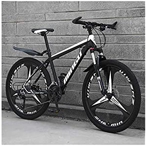 Mountain Bikes 26 Inch Men's Mountain Bikes, High-carbon Steel Hardtail Mountain Bike, Mountain Bicycle with Front Suspension Adjustable Seat,21 Speed
