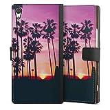 DeinDesign Étui Compatible avec Sony Xperia XA1 Ultra Étui Folio Étui magnétique Palmier Coucher...
