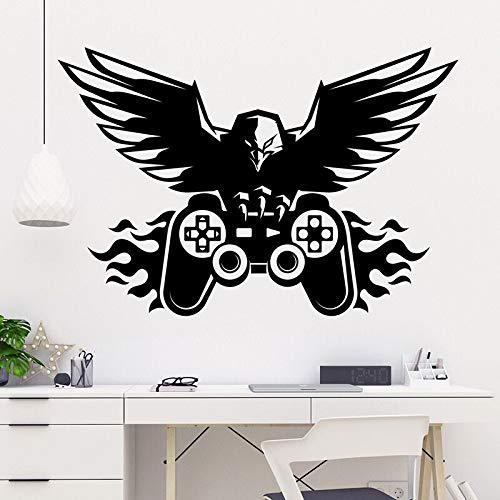 XCSJX Juego Gamepad Juego Pegatinas de Pared Sala de Juegos Dormitorio Eagle Juego Repetir Cita calcomanía de Pared habitación de niños decoración de Vinilo 109x73cm