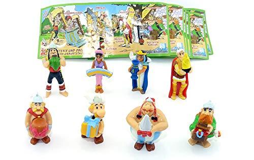 Ü-Ei (Kinder Überraschungsei) Sammelfiguren Set - Komplettsatz ASTERIX Jubiläumsfiguren (50 Jahre Asterix) - alle 8 erschienenen Figuren