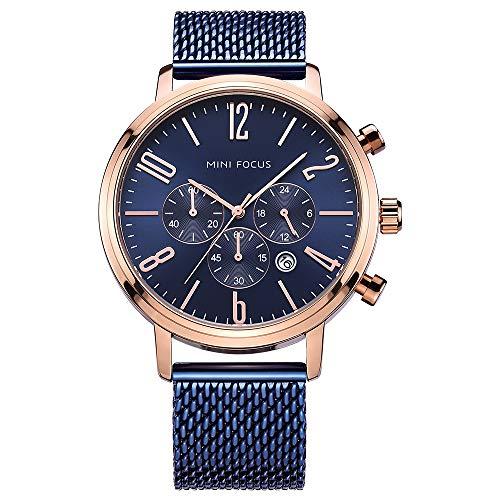 Mini Focus, reloj de pulsera para hombre de negocios, correa