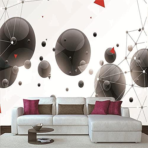 Papel Pintado 3D Murales 200x150 cm - 4 tiras- Fotomurales para Salón Natural Landscape Foto Mural Pared, Dormitorio Corredor Oficina Moderno Festival Mural Esfera negra
