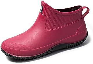 sorliva Chaussures de Jardin Imperméable, Sabots Bottes de Pluie de pêche, Unisexe, Slip-on, Léger, pour Homme et Femme