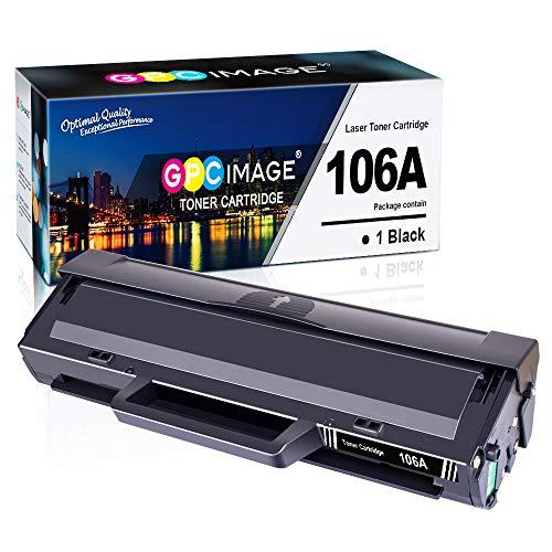 GPC Image Kompatibel 106A Toner Patronen Ersatz für HP 106A W1106A für HP Laser 107a 107r 107w MFP 135a 135r 135w 135wg MFP 137fnw 137fwg Druckerpatronen (1 Schwarz, mit Chip)