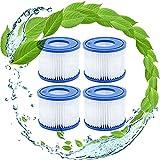 KHDFID VI Filter - Cartucho de filtro de repuesto para piscina Bestway Lazy Spa Bestway, 4 unidades, BW58323