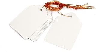 Sourcingmap 70 x 50 mm Nursery Garden Plastic Hanging Tag Label Marker - White (10-Piece)