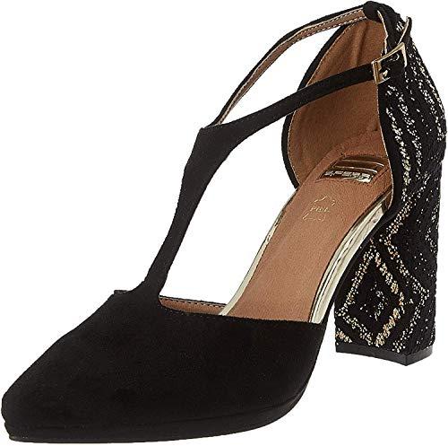 EFERRI Cristina, Zapato de tacón Mujer, Dorado, 39 EU