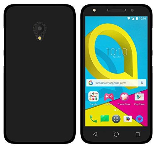 Tumundosmartphone Funda Gel TPU para ALCATEL U5 (4G)/Orange Rise 52 Color Negra