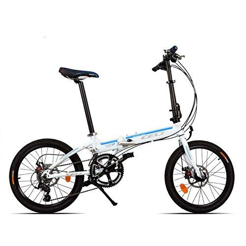 Telaio 20inch pieghevole della bicicletta pieghevole mini bici lega di alluminio 18 Velocitö