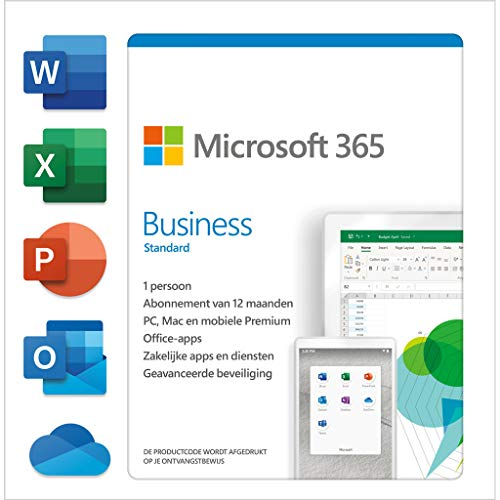 Microsoft Office 365 Business Premium, Engels, 1 gebruiker, 1 jaar, doos|Microsoft Office 365 Business Premium|tot 5 PCs /Macs + 5 phones + 5 tablets|1 year|PC/Mac/Android/iOS/ChromeOS|Download