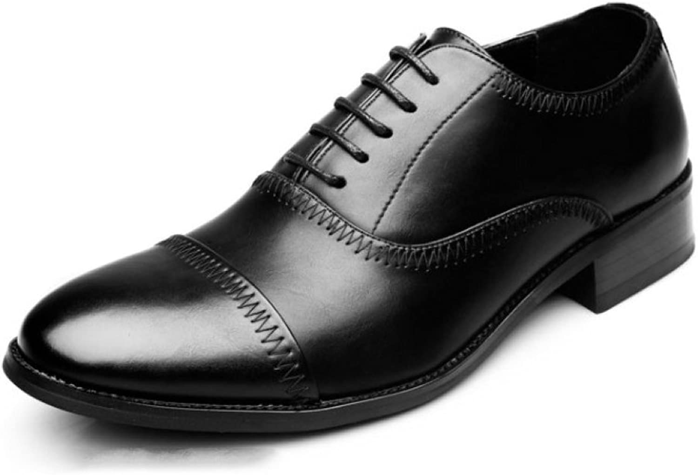 LEDLFIE Men's shoes Business Dress shoes Menswear Office Work Comfortable Breathable Leather shoes