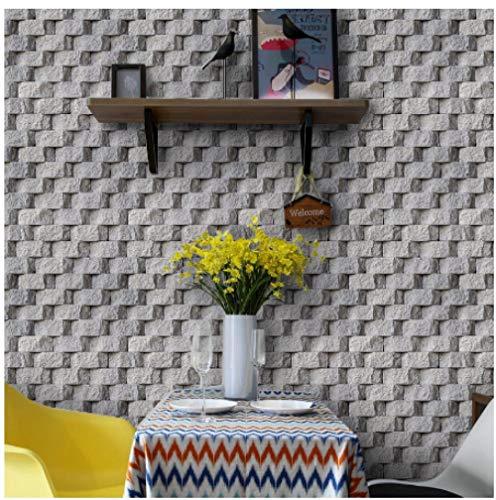 Wxzhometapete 3D Backstein Stein Tapete Schlafzimmer Wohnzimmer Wandverkleidung Home Decor-400 * 280Cm
