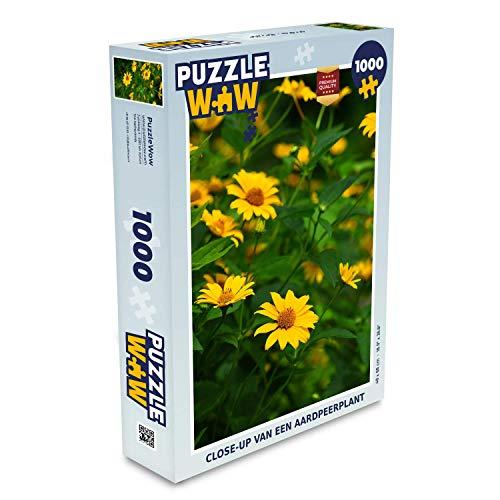 Puzzel 1000 stukjes volwassenen Aardpeer 1000 stukjes - Close-up van een aardpeerplant - PuzzleWow heeft +100000 puzzels - legpuzzel voor volwassenen - Jigsaw puzzel 68x48 cm