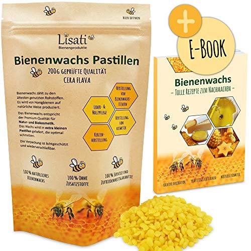 Premium bijenwaspastilles voor de productie van cosmetica, bijenwasdoekjes…