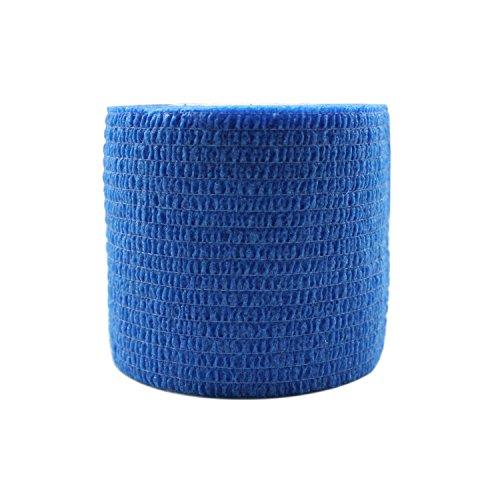 STpro Selbstklebender Verband Tape Fixierverband Selbsthaftende Bandage Tape Haftbandage 5cm x 6 Stück Blau Cohesive Bandagen Pferd Selbstklebende Binden Verband Elastischer Verbände Kohäsiv