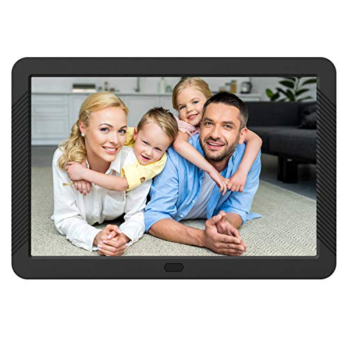 Aazomba 8 Inch Digital Photo Frame - Digital Picture Frame with High Resolution 1920x1080 16:9 IPS Screen/1080P 720P Video Player/Stereo/MP3/Auto-Rotate/Calendar/Time/Remote Control