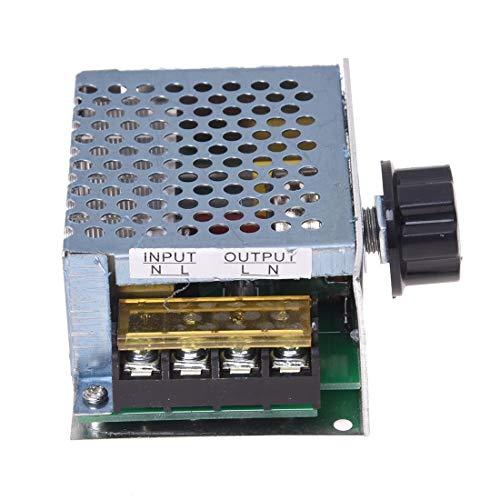 1 regulador de voltaje regulador de velocidad de atenuación de tiristor + carcasa 4000 W CA 220 V