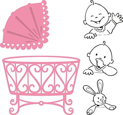 De Marianne Design. Collectables Troqueles Bebé, Metal, Rosa, 4.8x4.8x3 cm