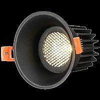 Qylwen ブラックCOBチップイルミネーションランプはルームオフィスキッチンホテルの卸売のための組み込みシーリングライト職業スポットライト防火防湿難燃剤シェルをLED (Color : ニュートラルライト)