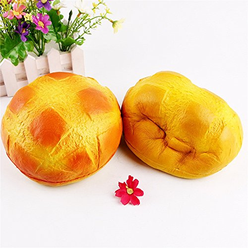 Tomppy Squishies Pineapple Bun Bread, Slow Rising and Cream Scented Squishy Toys, Jumbo Bread Squeeze Collection, Stress Relief Toys Decorative Props for Boys Girls