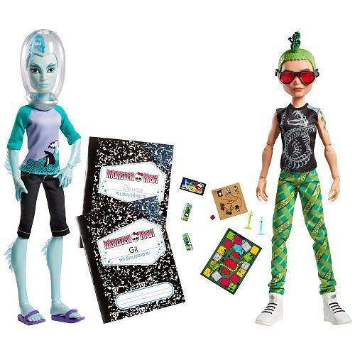 Monster High Mansters Gil Webber Deuce Gorgon Dolls, 2pack