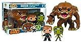 Figurines Pop ! Pack 3 Figurines Bobble-Head Star Wars - Rancor with Luke and Slave Oola