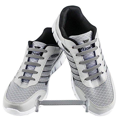 Xpand Lacci da Scarpe niente-nodo Lacci Elastici Piatti con Tensione Regolabile Adatti per Tutte le Calzature
