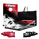 Franklin Sports Spartan Cornhole Set Includes 2 36-Inch x 24-Inch Targets, 8 Regulation Bean Bags, and Carry Bag