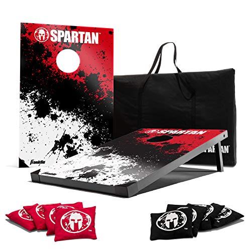 Franklin Sports Spartan Cornhole Set – beinhaltet 2 Zielscheiben, 91,4 x 61,1 cm, 8 Sitzsäcke und Tragetasche