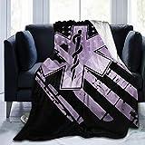 LodiSFOA EMT US Flag Fleece Blanket Throw Lightweight Blanket Super Soft Cozy Bed Warm Blanket for Living Room/Bedroom All Season