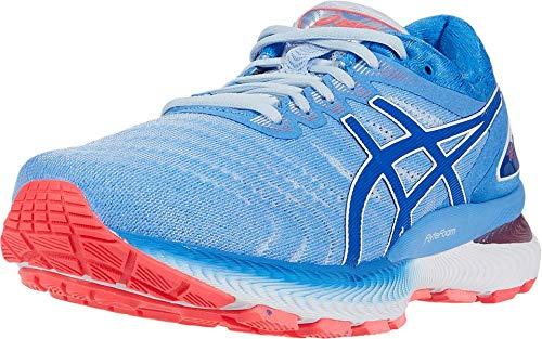ASICS Women's Gel-Nimbus 22 Running Shoes, 10M, Soft Sky/Tuna Blue