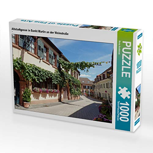 CALVENDO Puzzle Altstadtgasse in Sankt Martin an der Weinstraße 1000 Teile Lege-Größe 64 x 48 cm Foto-Puzzle Bild von Ilona Andersen