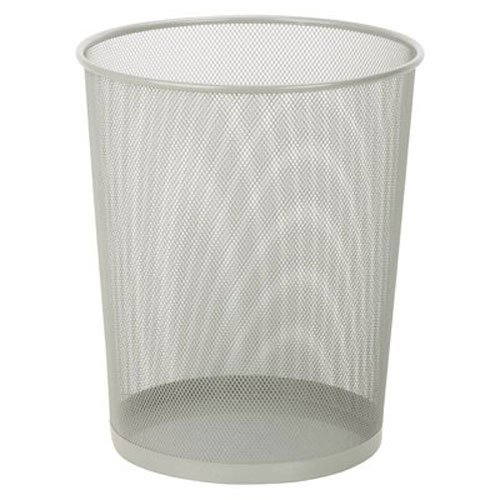 HoneyCanDo TRS02101 Steel Mesh PowderCoated Waste Basket Silver 18Liter/47Gallon Capacity 1175 x 14Inches Tall