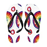 Yilooom Mens Womens Flip Flop Sandal Beach Summer Slipper Casual Lightweight Thongs Sandal, Gift for Mom Dad Friends, Size S, Tie Dye#G903