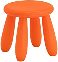 Yxsdd Childrens Stool Chair Kids Plastic Toddler Play Room Round Seat 12 Inch (Color : Orange, Size : As described)