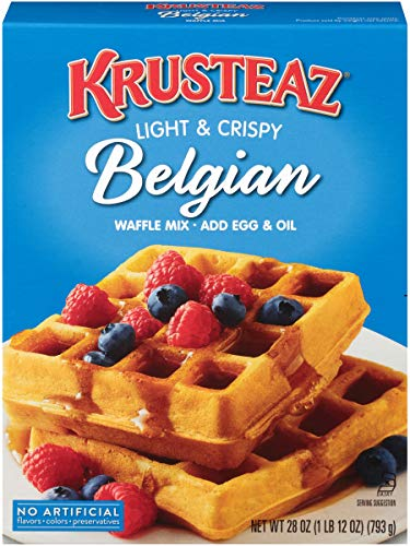 Krusteaz Light & Crispy Belgian Waffle Mix, 28 Ounce ( Pack of 4 )