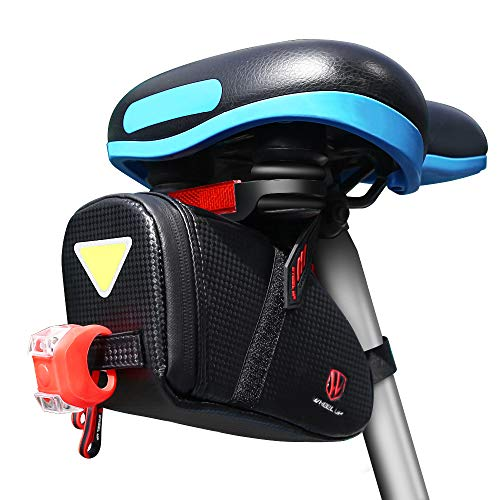 Bike Seat Bag, Bicycle Saddle Bag Under Seat Waterproof Wedge Packs Storage Repair Kit Tools Gear...