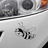 Stukk Stickers Autocollant en Vinyle pour fenêtre de Voiture Motif Abeille Souriante 15,3 cm x 11,4 cm - Noir