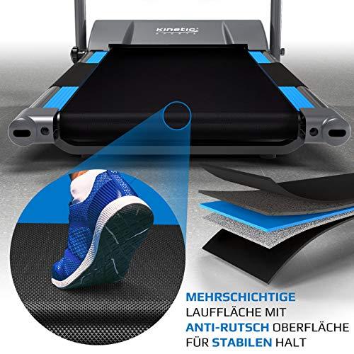 Kinetic Sports KST2500FX Laufband klappbar elektrisch flach leiser Elektromotor 500 Watt bis 120 kg, GEH- und Lauftraining, Lauffläche 36 cm breit, stufenlos einstellbar bis 10 km/h, 8 Programme - 5